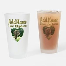 LOVE ELEPHANTS Drinking Glass