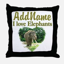 LOVE ELEPHANTS Throw Pillow