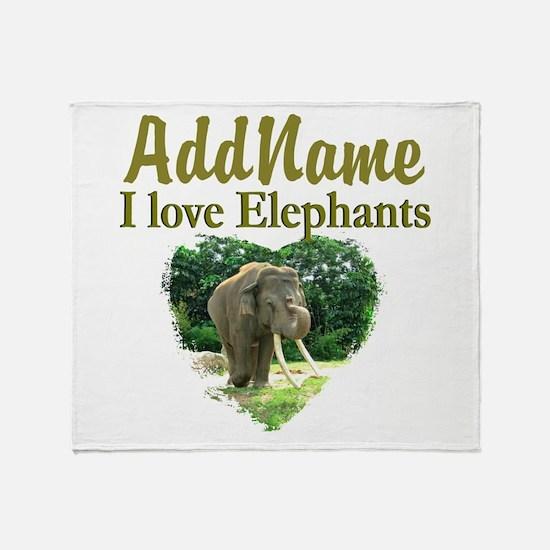 LOVE ELEPHANTS Throw Blanket