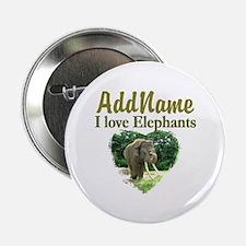 "LOVE ELEPHANTS 2.25"" Button (10 pack)"