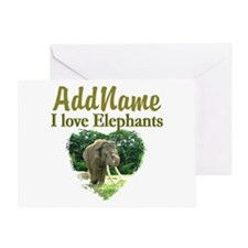 LOVE ELEPHANTS Greeting Card