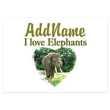 LOVE ELEPHANTS Invitations