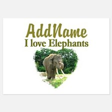 LOVE ELEPHANTS Invitations