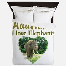 LOVE ELEPHANTS Queen Duvet