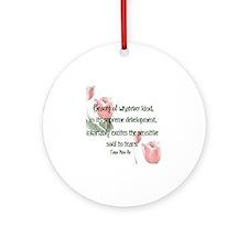 Beauty Poe Round Ornament