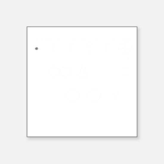 """Portable Chalk Talk for bla Square Sticker 3"""" x 3"""""""