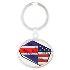 made in england 3 Oval Keychain