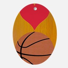 Love Basketball Itouch2 Itouch4 Ipod Oval Ornament