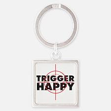 triggerhappy Square Keychain