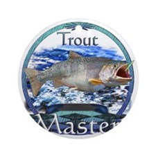 Trout master Round Ornament