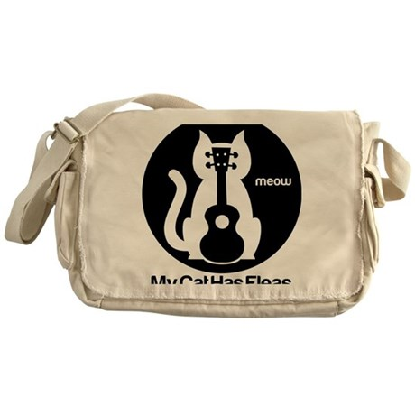 My Cat Has Fleas Ukulele Messenger Bag