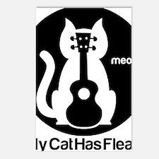 My Cat Has Fleas Ukulele Postcards (Package of 8)