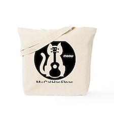My Cat Has Fleas Ukulele Tote Bag