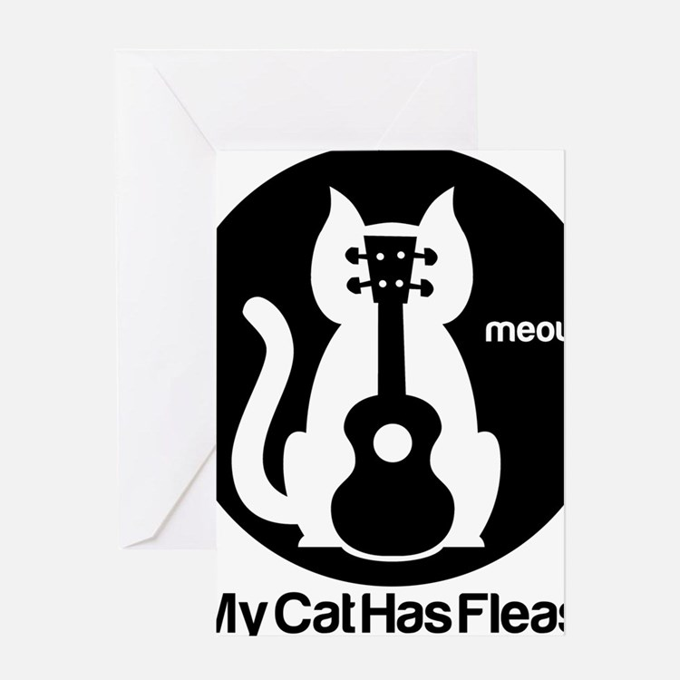 My Cat Has Fleas Ukulele Greeting Card