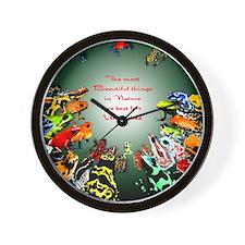 Frog shirt Wall Clock