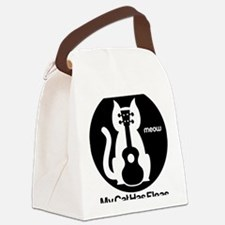 My Cat Has Fleas Ukulele Canvas Lunch Bag