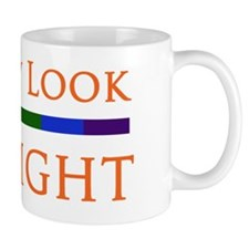 Look Straight - Black Small Mug