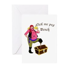 Pirate Lick Me Peg Greeting Cards (Pk of 10)