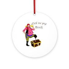 Pirate Lick Me Peg Ornament (Round)