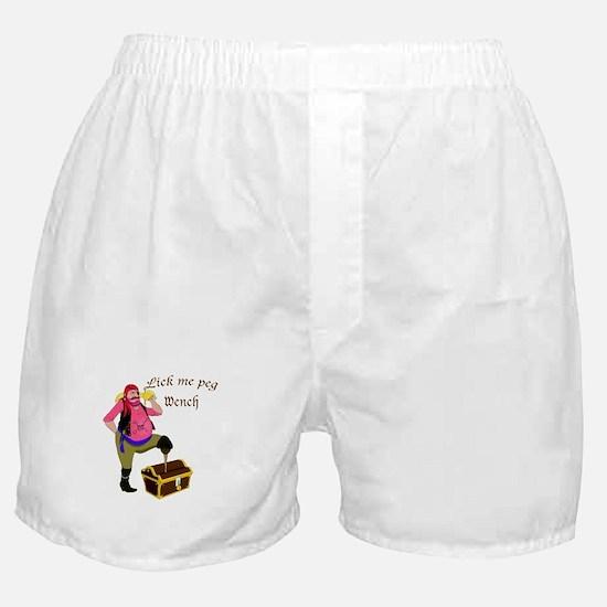 Pirate Lick Me Peg Boxer Shorts
