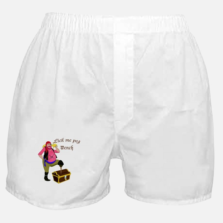 Pirate Lick Me Peg Boxer Shorts