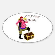 Pirate Lick Me Peg Oval Decal