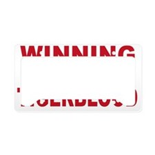 WINNING WITH TIGER BLOOD License Plate Holder