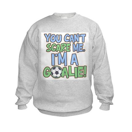 Can't Scare Goalie Kids Sweatshirt