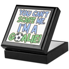 Can't Scare Goalie Keepsake Box