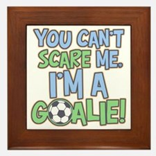 Can't Scare Goalie Framed Tile