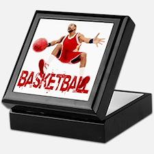 basketball_dribble_red Keepsake Box
