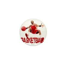 basketball_dribble_red Mini Button