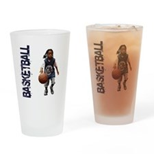 basketball_Kid_dribble1 Drinking Glass