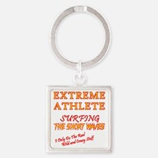 SURFING SHORT-WAVES Red Square Keychain