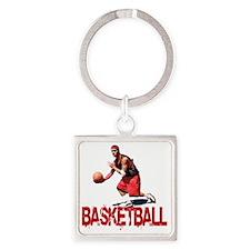 basketball_Street_dribble1 Square Keychain