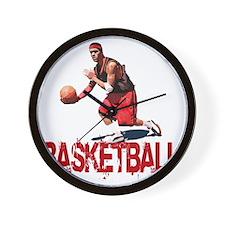 basketball_Street_dribble1 Wall Clock