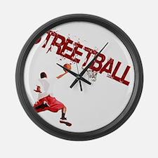 Basketball_Streetball_dunk Large Wall Clock