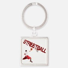 Basketball_Streetball_dunk Square Keychain