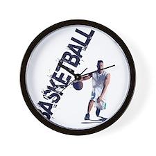 basketball_dribble (2) Wall Clock