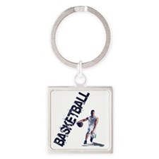 basketball_dribble (2) Square Keychain