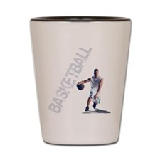 basketball_dribble_wht (2) Shot Glass