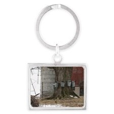 Maple Sap Time-large framed pri Landscape Keychain