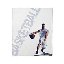 basketball_dribble_wht (2) Throw Blanket