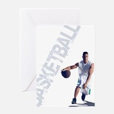 basketball_dribble_wht (2) Greeting Card