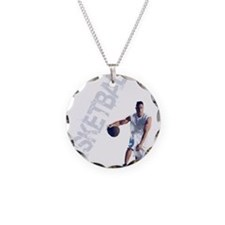 basketball_dribble_wht (2) Necklace