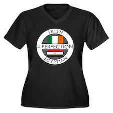 irish egypti Women's Plus Size Dark V-Neck T-Shirt
