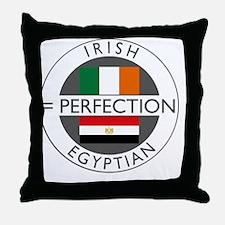 irish egyptian flags round Throw Pillow