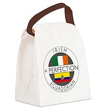 irish equadorian flags round Canvas Lunch Bag