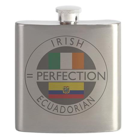 irish equadorian flags round Flask