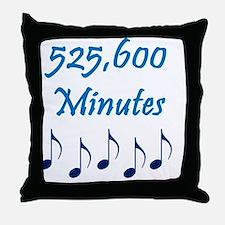 525600 Minutes Throw Pillow